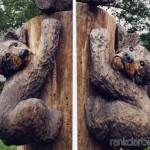 Drožinėti jaunikliai medyje